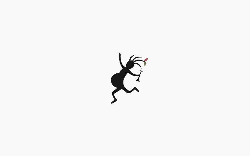Kokobelly auf hellgrauem Hintergrund